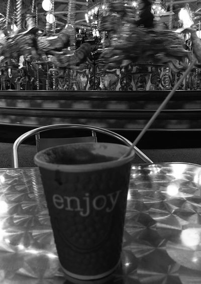 Food And Drink Refreshment Still Life No People Fairground Hull Fair Hull City Of Culture 2017 Carousel Horse Fairground Attraction Coffee To Go Enjoy Relax Caffè Latte Takeaway Cup