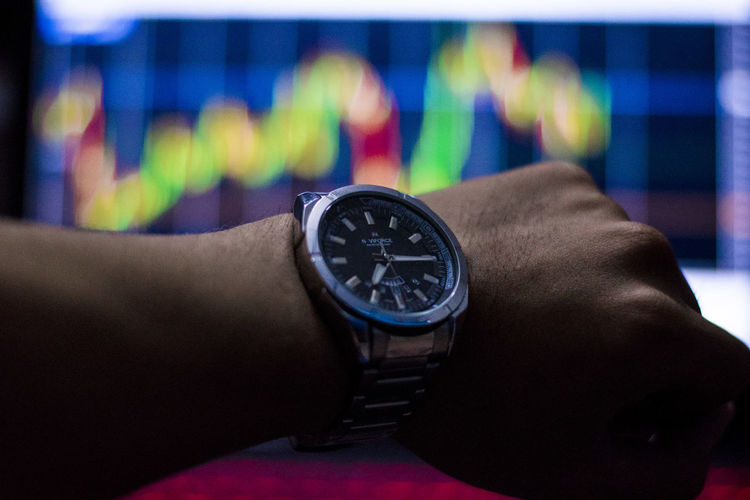 See stock chart time See Stock Chart Time Human Hand Hand Human Body Part Watch Time One Person Wristwatch Real People Lifestyles Body Part Indoors  Close-up Leisure Activity Instrument Of Time Focus On Foreground Men Personal Perspective Unrecognizable Person Communication Finger Personal Accessory Human Limb Checking The Time