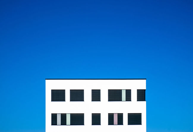 Bluemonday Architectural Column Architectural Feature Architecture Architecturelovers Berlinmalism Blue Blue Monday Bluemonday Building Building Exterior Built Structure City Clear Sky Copy Space Day Fujix_berlin Fujixe3 House Minimal Minimalism Minimalist Photography  Ralfpollack_fotografie Sky