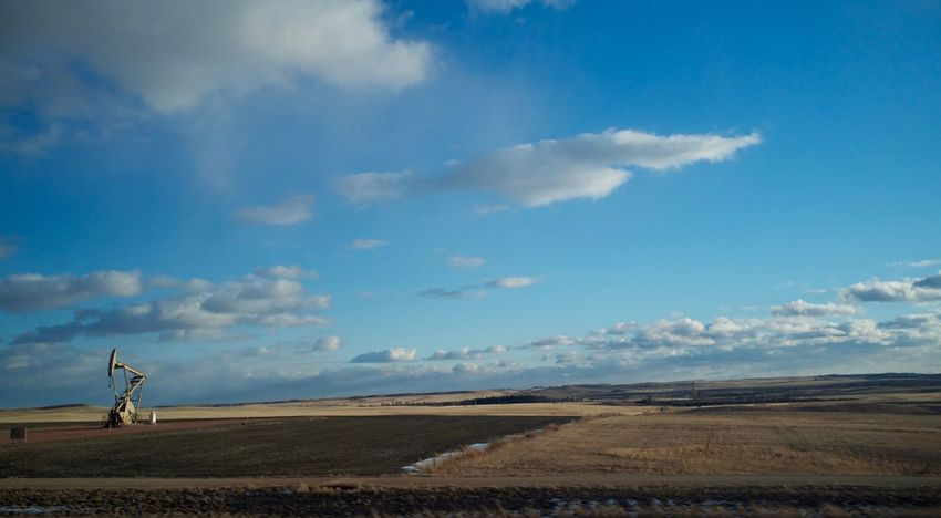 2-7-16 Beauty In Nature Cloud Cloud - Sky Cloudy Copy Space Distant Dusk Environmental Conservation Horizon Over Land Landscape MidWest North Dakota Outdoors Remote Scenics Silhouette Sky Sunset Tranquil Scene Tranquility Voyage Western North Dakota