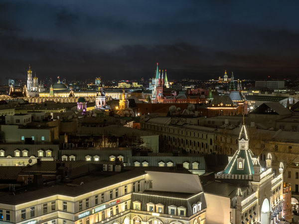 Russia, Moscow, the Kremlin, the Nikolskaya street, Lubyanka, the old center, travel, tourism Moscow Moscow, Russia Moscow, Москва Russia Russia россия Travel Architecture Building Exterior Built Structure City Cityscape Illuminated Night No People Outdoors Sky The Kremlin Tourism