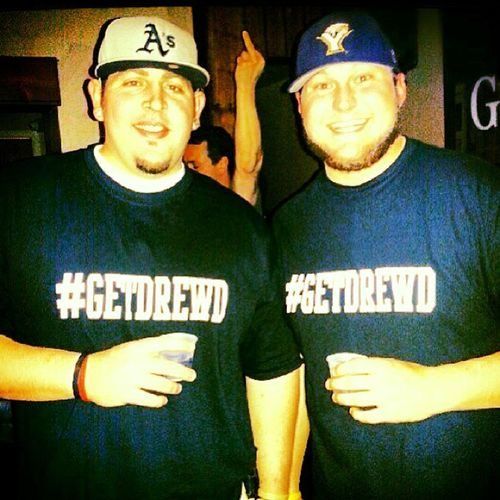 Me and me buzz lightyear himself @drewdaley12 with the Getdrewd shirts