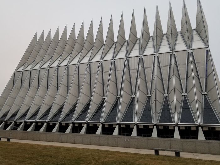 Air Force Academy chapel architecture outdoors