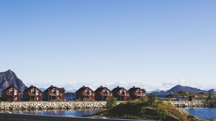 Cabin row Norway Ocean Cabin Landscape Landscape Photography Water Drivebyphotography House The Great Outdoors - 2017 EyeEm Awards