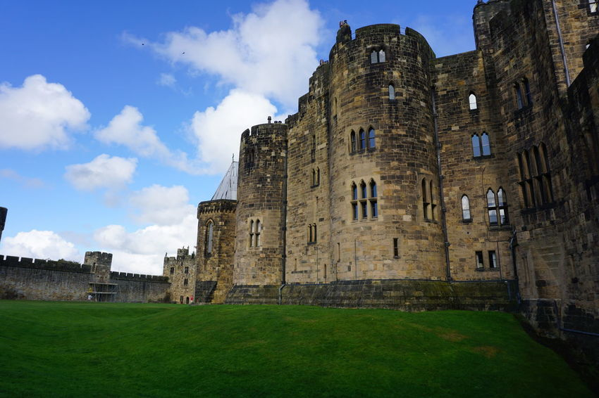 Harry Potter Scotland Alnwick Castle Alnwickcastle Ancient Architecture Building Exterior Built Structure Castle Cloud - Sky Day Grass History Low Angle View Nature No People Old Ruin Outdoors Sky The Past Travel Destinations