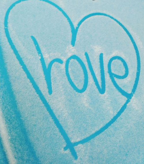 Love Heart Shape Blue Outdoors No People Snow Snow Covered любовь голубой Shades Of Winter