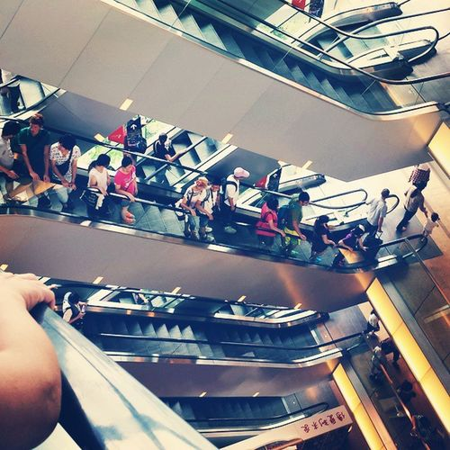 The land of many escalators HongKong Thepeak Escalators Lazy