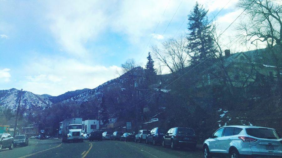 I love being home. Colorado USA Landscape Grunge