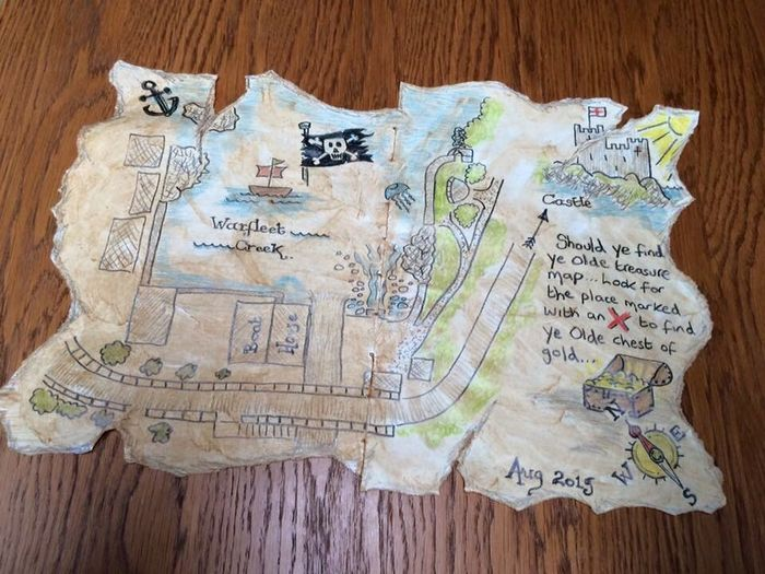 Childs treasure map for Warfleet Creek, Dartmouth Childs Kids Treasure Map Warfleet Creek Dartmouth Dartmouth Art, Drawing, Creativity Art Creative Fun