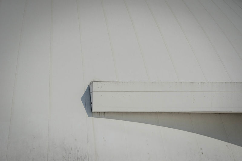 Gutter on white roof