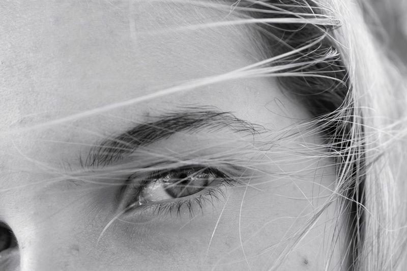 Human Eye Close-up Looking At Camera Blackandwhite First Eyeem Photo