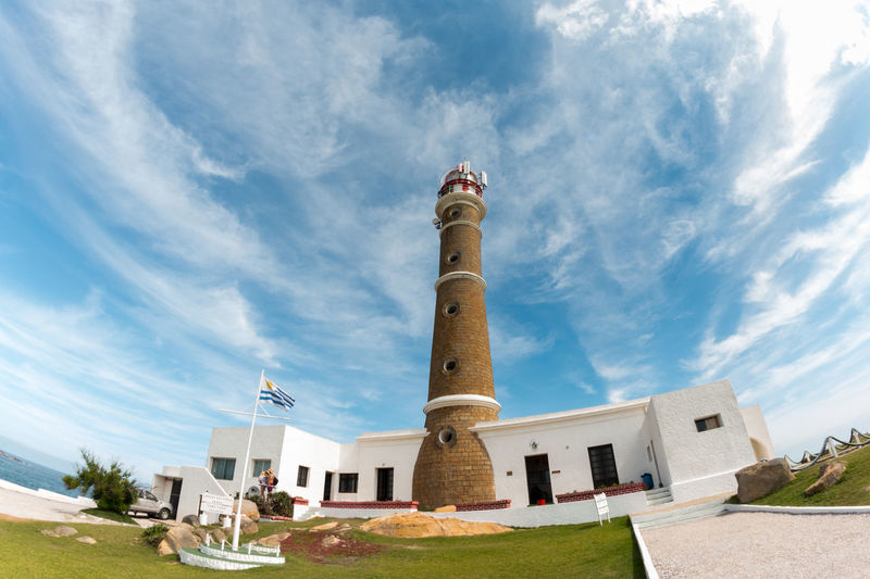 Lighthouse in Cabo Polonio Architecture Blue Blue Sky Cabo Polonio Cloud - Sky Day Fish Eye House Lighthouse No People Outdoors Rocha Sky Travel Destinations