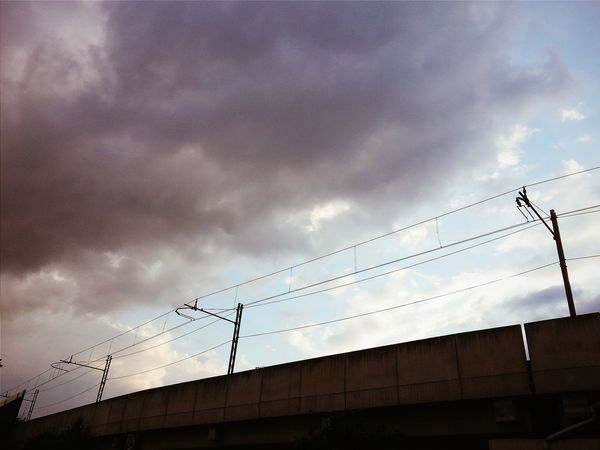 Clouds above my heads Cable City Cloud - Sky Clouds Clouds And Sky Connection Day Electricity  Electricity Pylon Low Angle View Nature No People Outdoors Power Line  Power Supply Rails Sky Technology