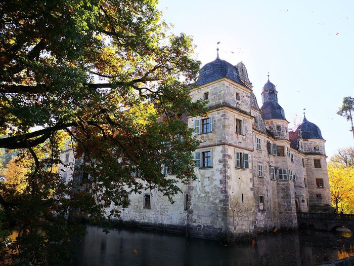 Sun Herbst Autumn Autumn colors Wasserschloss Heimat Love History Old Buildings Tree City Sunset Sky Architecture Building Exterior Close-up Built Structure Palace