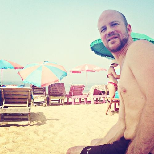 Nic enyoing the Calangute Beach!