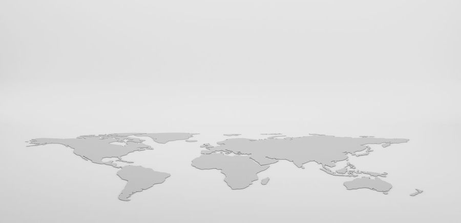 Drawing outline World map isolated on white background. infographics, illustration Business Earth Map Abstract Close-up Continent Cracked Damaged Fragility Global Communications Globe Illustration Map No People Studio Shot Water White Background World