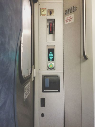 Train Door Electronic Trash Button