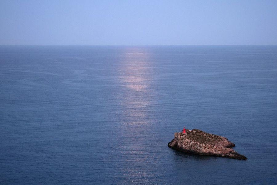 Beacon Island Sea And Sky Reflex Moon Light A Bird's Eye View Color Palette