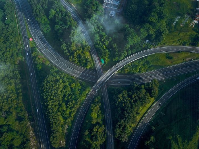 NKVE/PLUS Highway Kuala Lumpur Highway Plant No People Nature Beauty In Nature Growth Outdoors Aerial View Environment Scenics - Nature