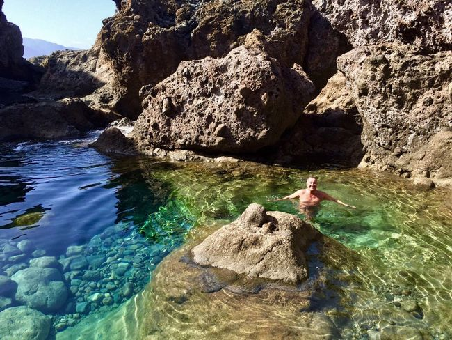 Atlantik Nature-Pool Rock - Object Water Sea Outdoors Tenerife. Spain ♥ Adventures Of Nature Enjoying Life Vulvanic Landscape Portrait Hello World Protecting Where We Play Untold Stories What I Value Share Your Adventure in November