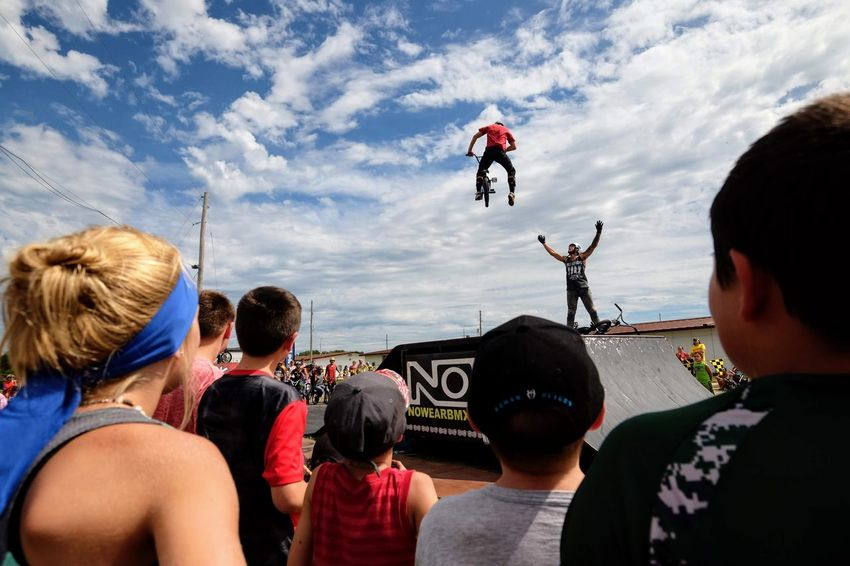 Nowear BMX Team Nebraska State Fair September 1, 2018 Grand Island, Nebraska Camera Work Check This Out EyeEm Best Shots FUJIFILM X-T1 Fujinon 10-24mm F4 Getty Images Grand Island, Nebraska Nebraska State Fair NowearBMX Photojournalism Action Action Shot  Adult Bicycle Bmx  Bmx Cycling Cloud - Sky Crowd Day Enjoyment Events Extreme Sports Eye For Photography Freestyle Group Of People Headshot Jumping Leisure Activity Lifestyles Men Mid-air Nature Outdoors People Real People Rear View S.ramos September 2018 Series Sky Spectator Sport Standing Transportation Watching Women