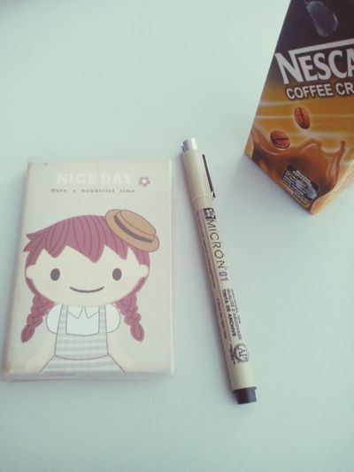 Notes Drawing Pen Nescafe Coffee