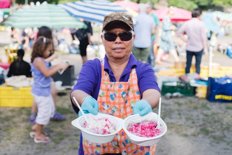 Crushed Ice Focus On Foreground Happiness Outdoors Patbingsu Portrait Smile Streetfood Streetfood Worldwide Thaiwiese The Essence Of Summer The Essence Of Summer. Streetphotography Street Photography - EyeEm Awards 2016