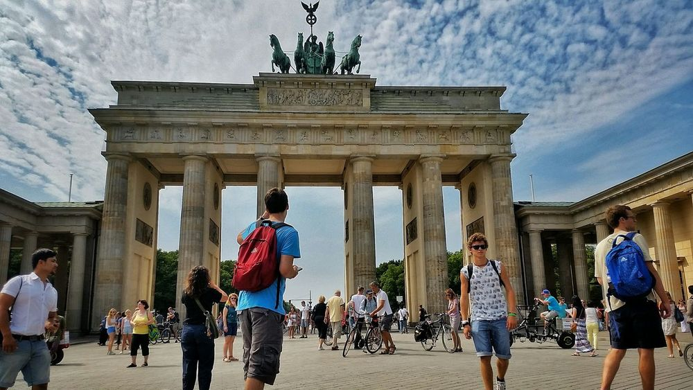 Brandenburger Tor Berlin Summer Relaxing Enjoying Life Gate Enjoy Life Holiday