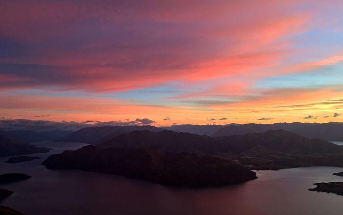 Beauty In Nature Hiking Lake Nature Roys Peak Sunrise Tranquility Wanaka