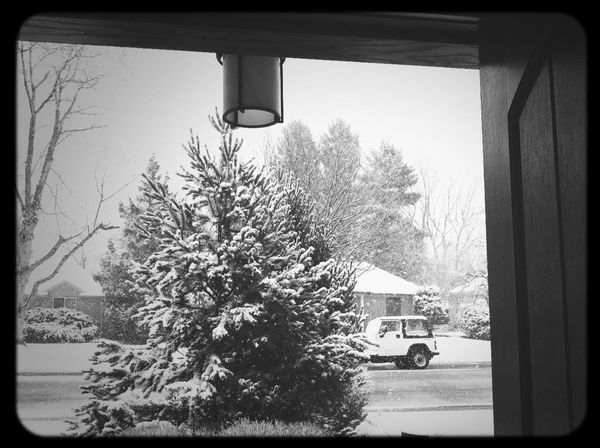Up to a foot of the white stuff expected today.