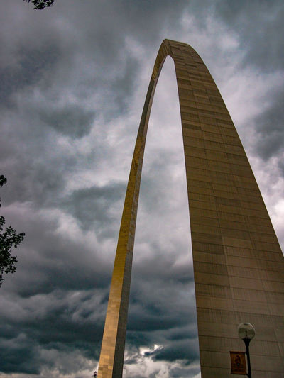 The Arch Arch Architecture Cloud - Sky Built Structure Low Angle View No People Tall - High Travel Destinations Connection Sky Dramatic Sky Day Outdoors Tourism St Louis St Louis Arch