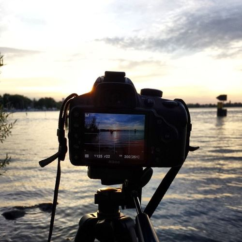Always waiting for the perfect shot. #photography #sunset #werder #beauty #nature