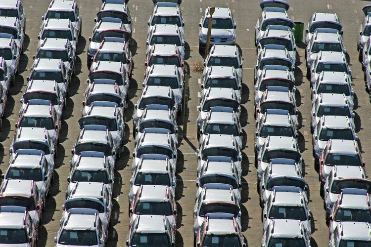 Full frame shot of cars on road