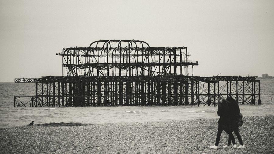 Brighton - the other pier Brighton Brighton Uk Black & White Blackandwhite Pier Abandoned & Derelict Seaside Beach EyeEm_abandonment