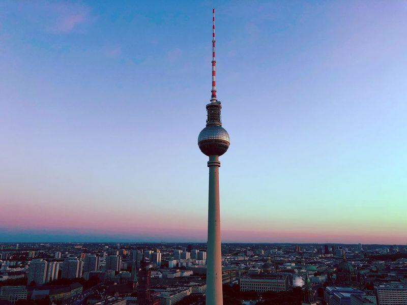 Cityscape City Travel Destinations Skyporn Colors Berlin Berlin Photography Colorful Architecture Building Exterior Built Structure City Cityscape Sky Building Tower Tall - High Travel Destinations Travel Spire  Clear Sky No People Tourism Outdoors City Life Skyscraper Modern The Great Outdoors - 2018 EyeEm Awards