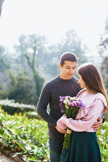 Adult Adults Only Affectionate Bangle Beauty In Nature Bouquet Bride Brown Hair Day Females Flower Happiness Nature Outdoors People Smiling Summer Togetherness Two People Women Young Adult Young Women