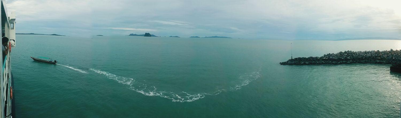 จะออกไปแตะขอบฟ้า Suratthani Thailand Enjoying Life ท้องฟ้ากะทะเล