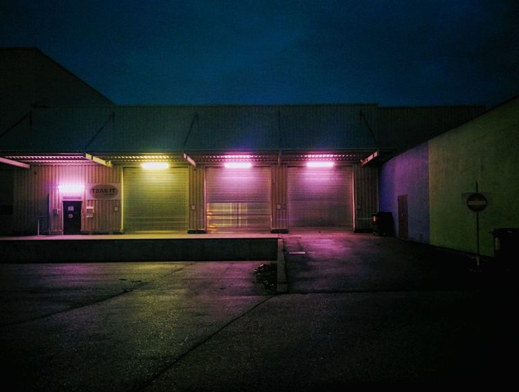 Illuminated Darkness And Light Artificial Light Tranquility Wintertime Nightphotography Melancholic Landscapes Stillness In Time Abandoned Places Bright Light In A Dark World Silent Moment Industrial Area Industrial Architecture Bold Neons, Bright Pastels Neon Lights Pink Neon Light Up Your Life Yellow Light Urban Geometry Vienna Vienna By Night..
