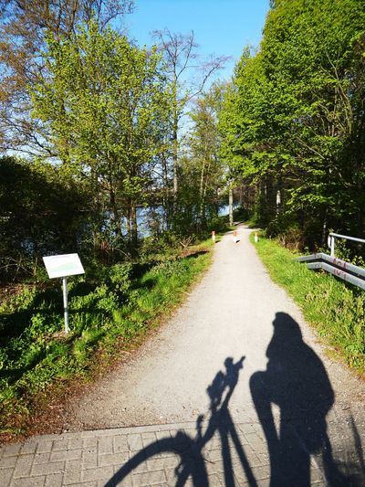 My shadow &meEarlymorning way down to the canal Loading My Akku🌞😍 Bicycling Sunlight Tranquility Celebrate The Little Things In Life For My Friends 😍😘🎁 Enjoyinglife  Sunny Day 🌞 Beauty In Nature Am Kanal Shadows & Lights shadowselfie Favoriteplaces