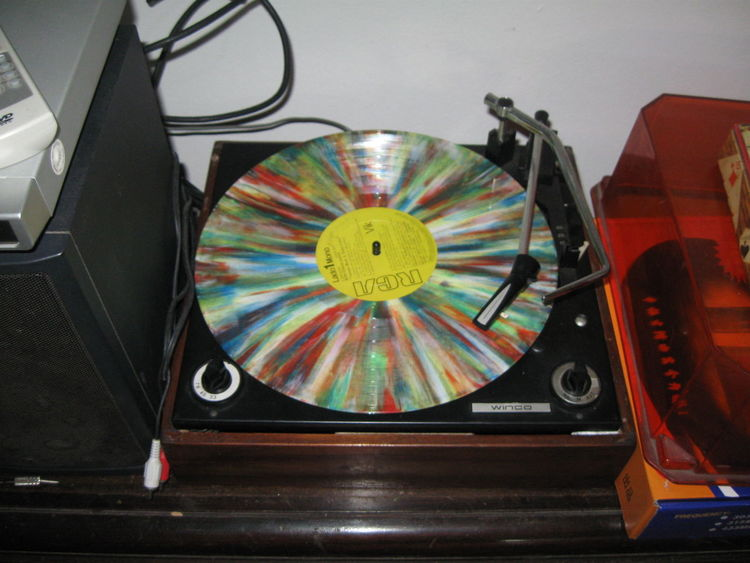 Creativity Multi Colored Music Turntable Turntable Dj's Winco