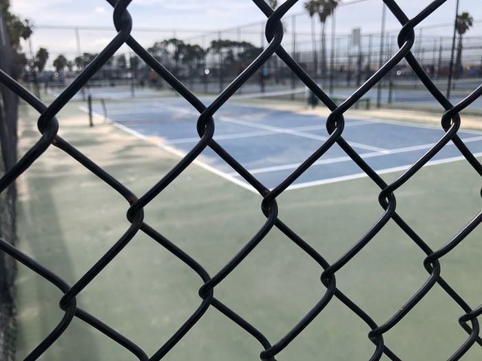 Sports Sport Beach Wire Ring Cage Arena Tenis Closeup Close Up Close Iron Chainlink Fence Safety Metal Protection Security Outdoors Day Full Frame Close-up Basketball - Sport City