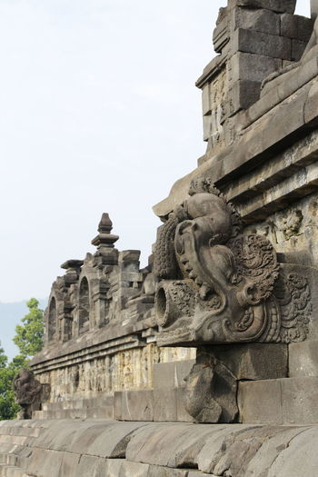 Beautiful bas-relief as wall decor carved in stone at Borobudur Temple, Yogyakarta, Indonesia Ancient Ancient Civilization Architecture Art And Craft Belief Building Building Exterior Built Structure Creativity Day History No People Outdoors Place Of Worship Religion Representation Sculpture Sky Spirituality Statue The Past Travel Destinations