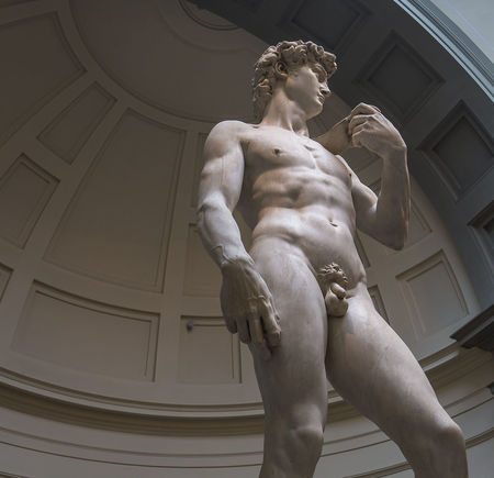 FLORENCE, ITALY, OCTOBER 24, 2015 : Michelangelo David statue in Accademia, october 24, 2015 in Florence, Italy Accademia Art David Firenze Florence Galleria Dell'accademia Italy Medicis Michelangelo Michelangelo's David Sculpture Statue