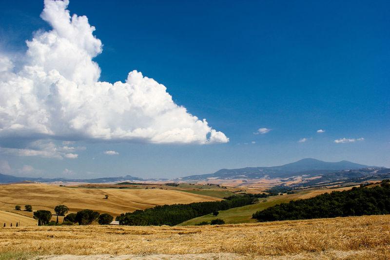 Blue Sky Blue Sky And Clouds Countryside Siena Siena Italy Siena Tuscany Tuscany Tuscany Countryside Tuscany Italy Tuscany Landscape Live For The Story