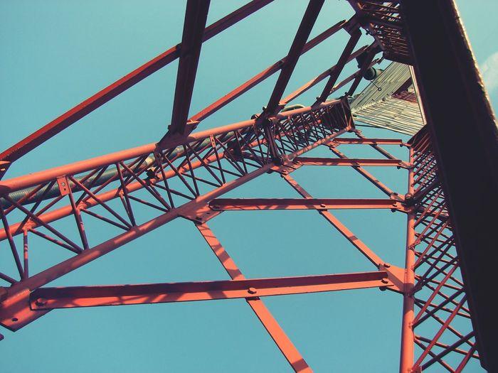 Urbanphotography Long Lines Radio Tower Sky Taking Photo Monterrey, México