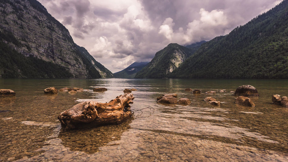 The Stone into the Sea Beach Photography Berchtesgaden , Germany Epic Shot Photography Königssee Landschaften St. Bartholomä Animal Themes Beauty In Nature Cloud - Sky Day Epicsky Lake Landscapes Mammal Mountain Mountain Range Nature No People Outdoors Rock - Object Scenics Sky Stone - Object Tranquility Water EyeEmNewHere EyeEmNewHere This Is Masculinity
