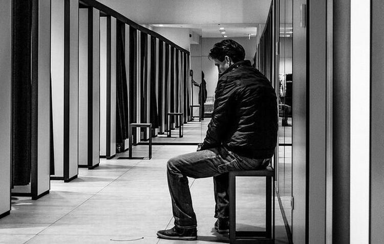 Streetphotography_bw Monochrome Fitting Room