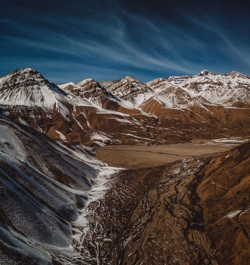 Aerial view from Andes Mountains River View Dronephotography Aerial View Drone  Landscape Snow Andes Tones Mountain Andes Mountains Cajon Del Maipo Valle Del Yeso Sky Scenics - Nature Mountain Beauty In Nature Nature Winter Environment Cloud - Sky Landscape No People Cold Temperature Tranquility Tranquil Scene Land Mountain Range Non-urban Scene Snowcapped Mountain Outdoors