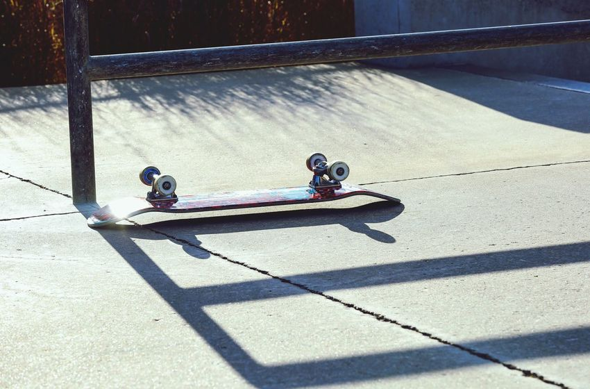 Rest In Peace. Railing Skate Park Fun Concrete Skateboard Wheels JGLowe Shadow Sunlight Nature Two People Real People Day Men People Transportation High Angle View Sport City Lifestyles Outdoors