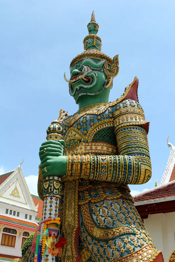 Building Exterior Built Structure Day Giant Statue In Thailand Low Angle View No People Outdoors Place Of Worship Religion Sculpture Sky Spirituality Statue Travel Destinations
